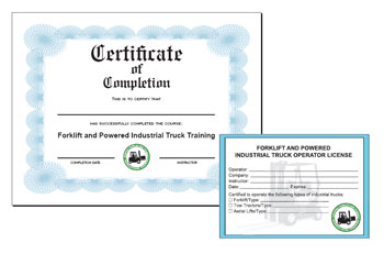 Forklift operator safety training video top seller for Forklift licence template