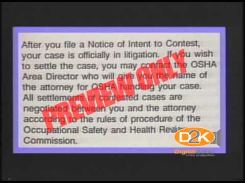 Employer's Rights after OSHA Inspections Safety Video